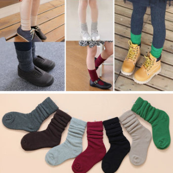 2015 autumn and winter new fashion male and female children's cotton colored cotton socks