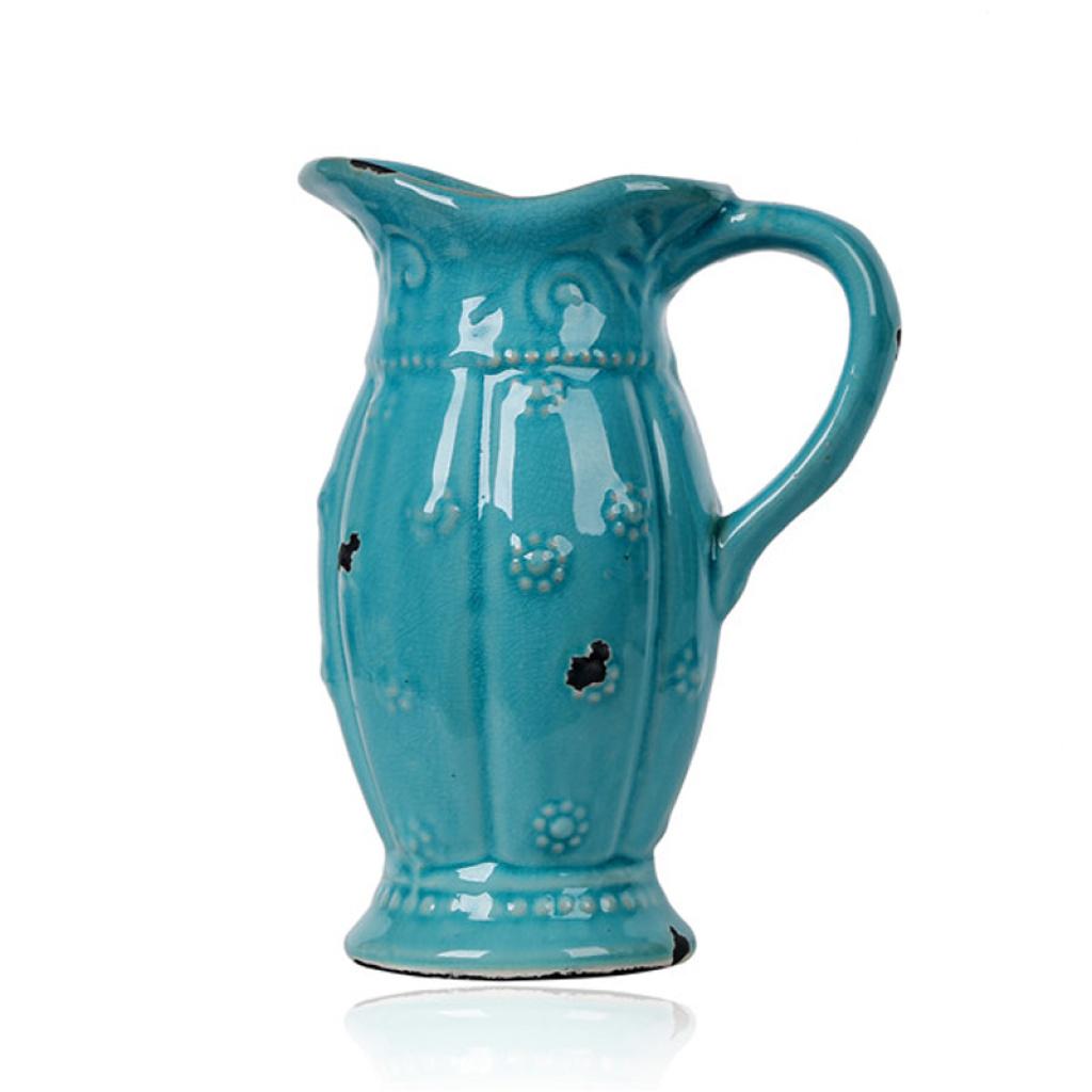 欧式陶瓷花瓶花器创意家居摆件三件套插花瓶