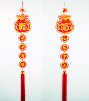 The new Chinese node compaction spring festival ornaments pendant poetic couplet interior decoration