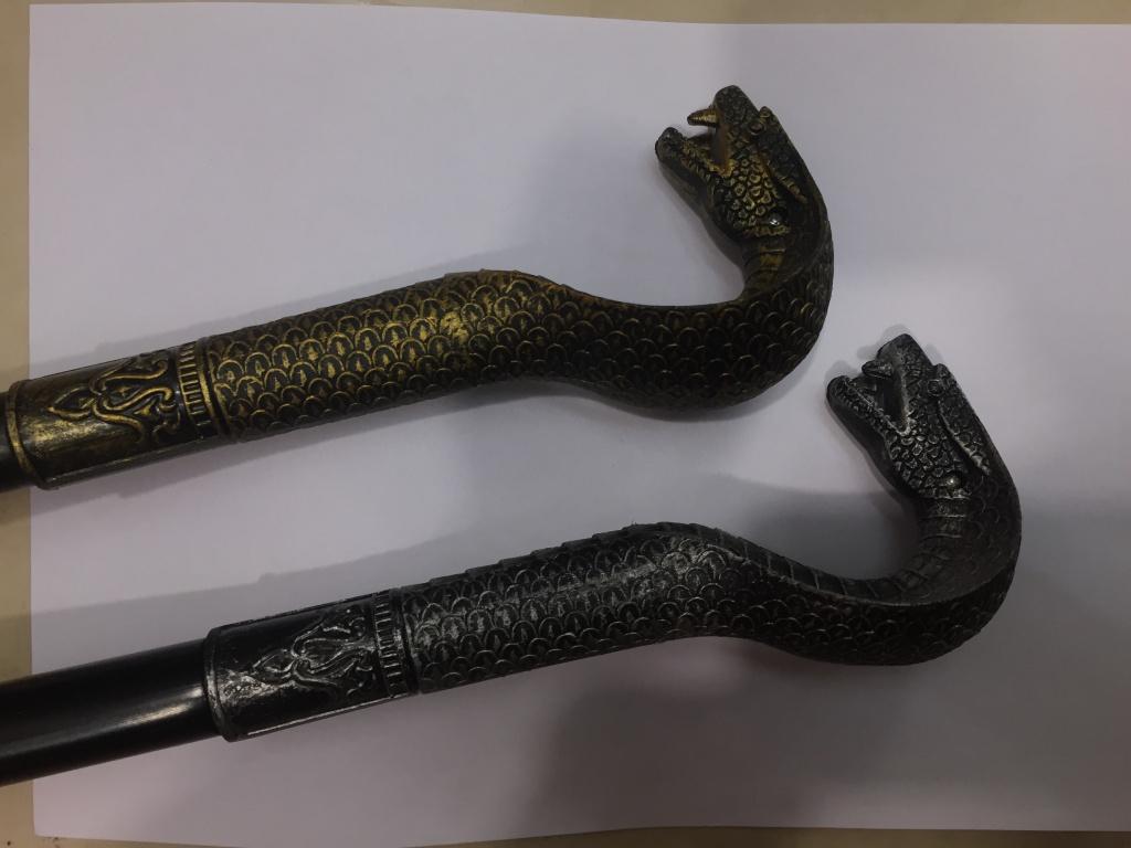 新品蛇头拐杖