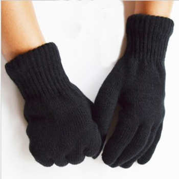 Shun Hui in autumn and winter fashion men's double XL Black Gloves special direct sales