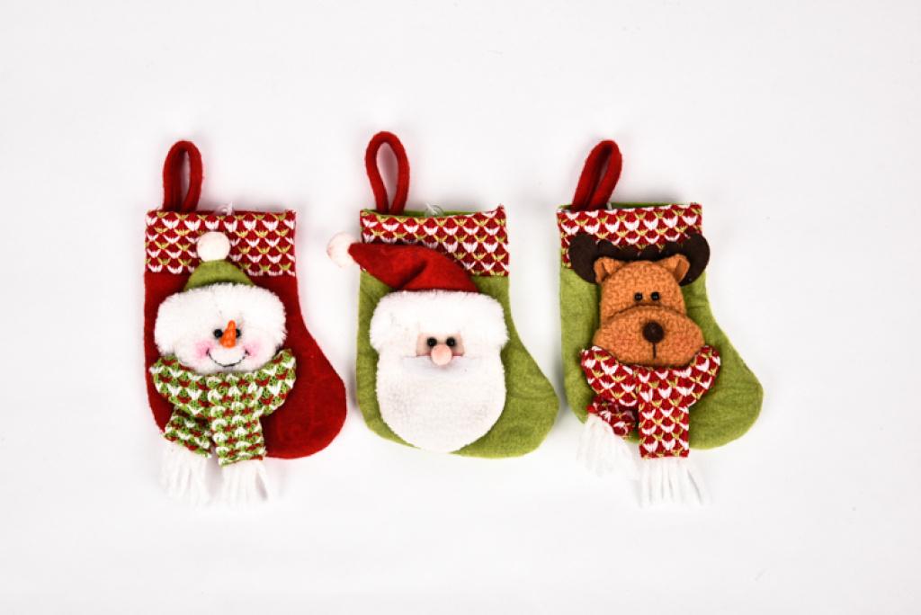 14cm老人雪人鹿款圣诞袜 圣诞树挂件配饰cx14090
