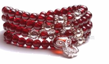 vino rosso granato naturale 6a braccialetto vera trasferimento crystal multi - cerchio in stile folk i gioielli di gioielli