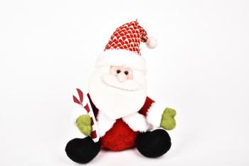 25cm圣诞老人,雪人,鹿坐姿 圣诞节摆件cx14095