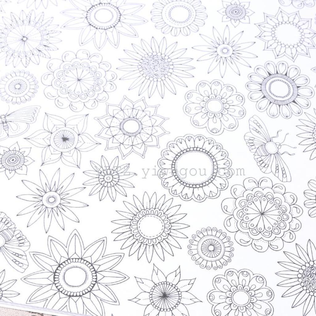 秘密花园填色本彩色铅笔填色涂鸦填色生日礼物送礼