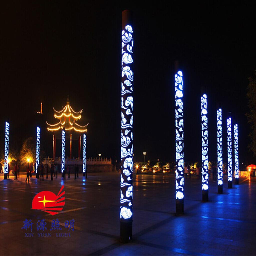 公园灯具,户外照明灯 玻璃灯柱 庭院小区玻璃景观灯图片