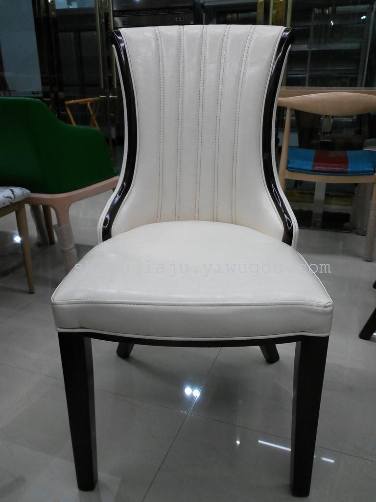 酒店实木餐桌椅 会所包厢椅 外国餐厅椅 欧式软包椅