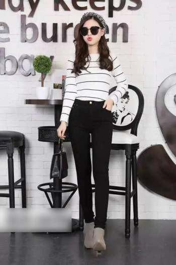 2017 winter new Korean version of women's slim slim cashmere wear leggings with thickening