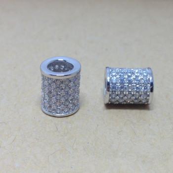 оптовые цилиндрические браслет ожерелье аксессуаров, покрыты золотом не угасает гипоаллергенного микро - прямой