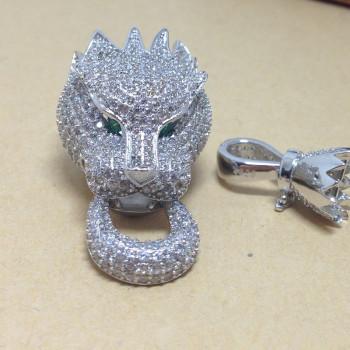 оптовые пантера браслет ожерелье золотым напылением арматуры не исчезают с аллергией микро - прямых производителей с циркон