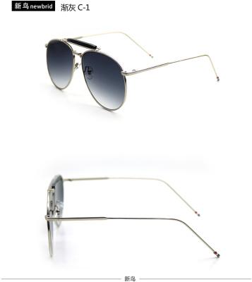 2016 Julian Cheung Lu Yi metal frame thin leg fashion tide product Sunglasses