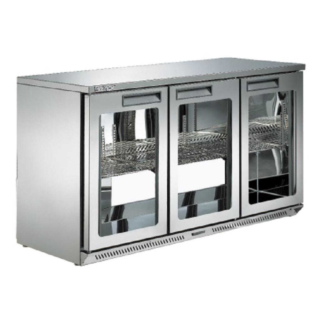 酒吧吧台酒柜不锈钢酒柜台式冷藏展示柜玻璃门小冰箱图片