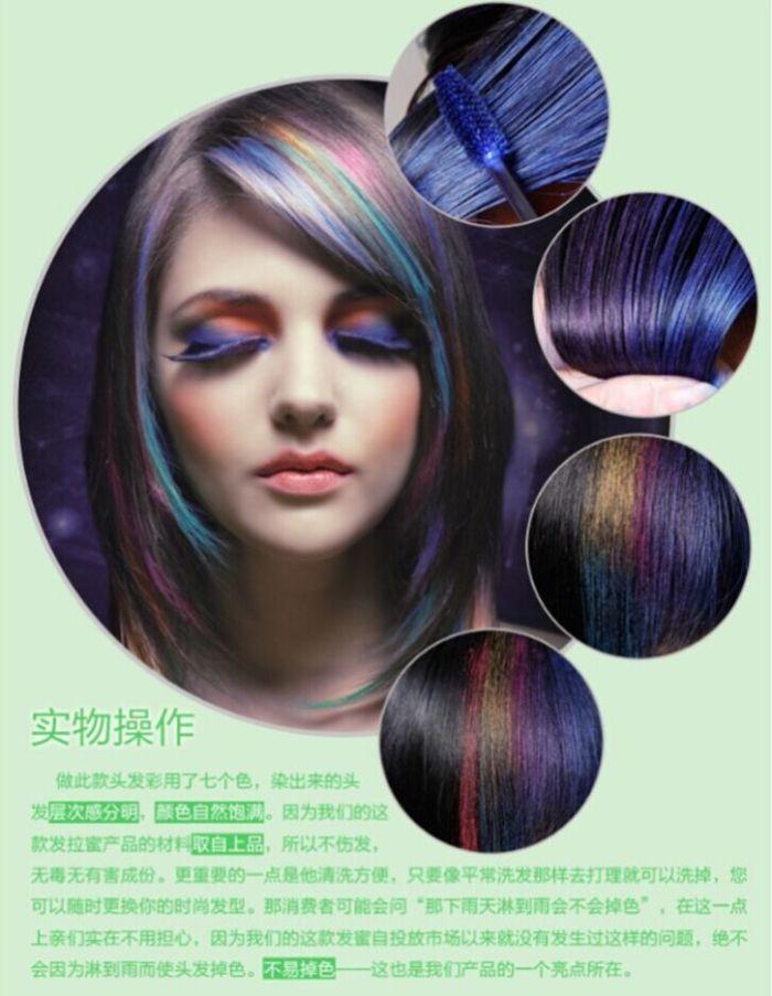 Supply Hair Dye Color Easy Temporary Non Toxic Diy Hair Mascara Hair