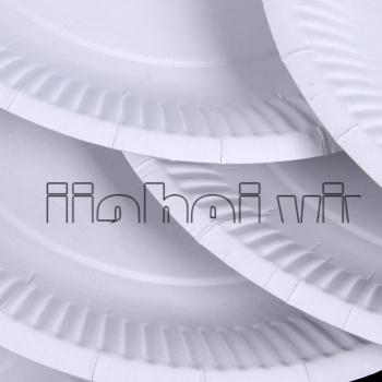 创意幼儿园手工绘画一次性纸盘白色蛋糕盘