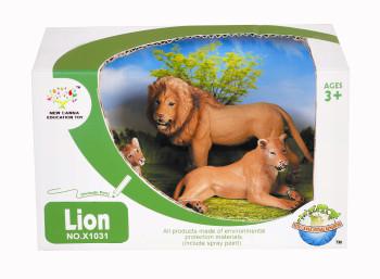 Animal world gift box set of animals wild lion set 3 / box