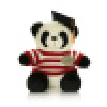 穿衣博士熊猫毛绒玩具熊猫公仔布娃娃 蓝白条纹