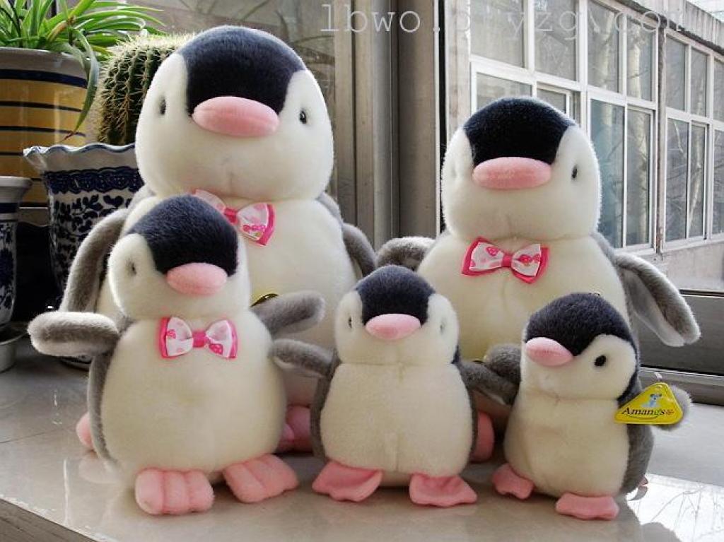 粉嘴企鹅 动物公仔玩偶 发声布娃娃毛绒玩具 可爱创意情侣礼物