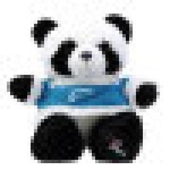 仿真熊猫公仔大熊猫毛绒玩具熊猫布娃娃 生日礼物 玫红色衣服款