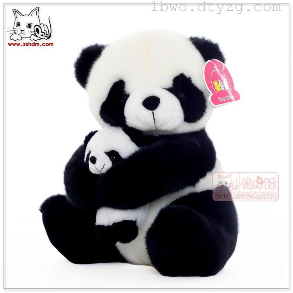 ToyClub新款可爱母子熊猫公仔毛绒玩具布娃娃玩偶