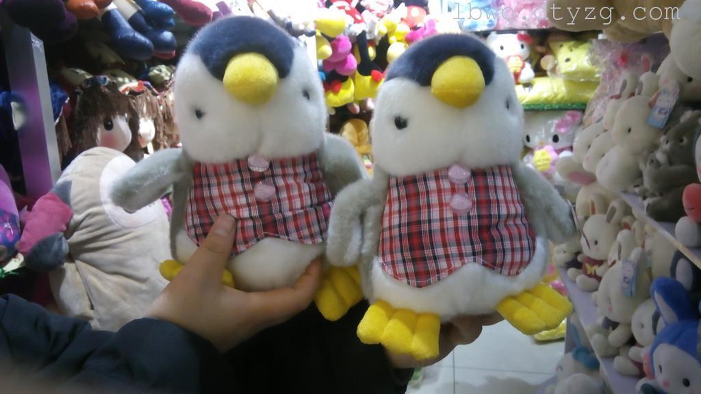 呆萌马甲企鹅可爱毛绒玩具公仔卡通玩偶抱枕靠垫儿童玩具礼物