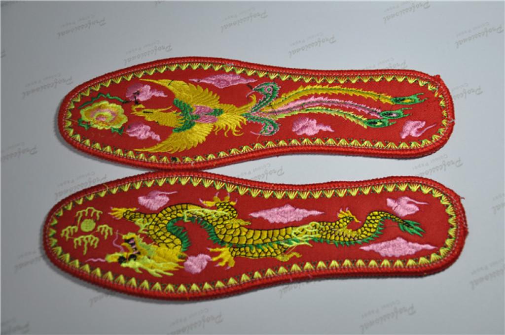手工绣花鞋垫,鸳鸯戏水