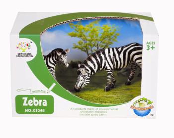 Animal world gift box set of animals Wild Zebra suit 2 / box