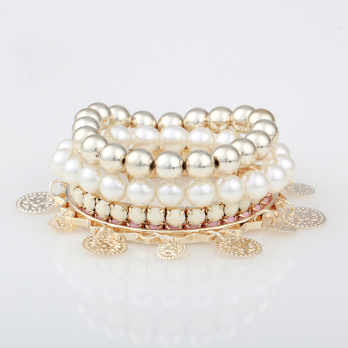 Korean wave candy color multi-layer bangles summer new Pearl AZ1401094