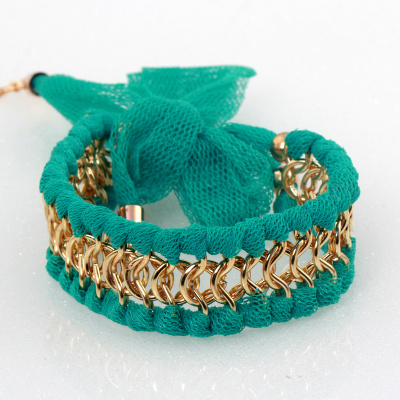 Elegant Korean fashion ladies pairing silk wild metal chain bracelet
