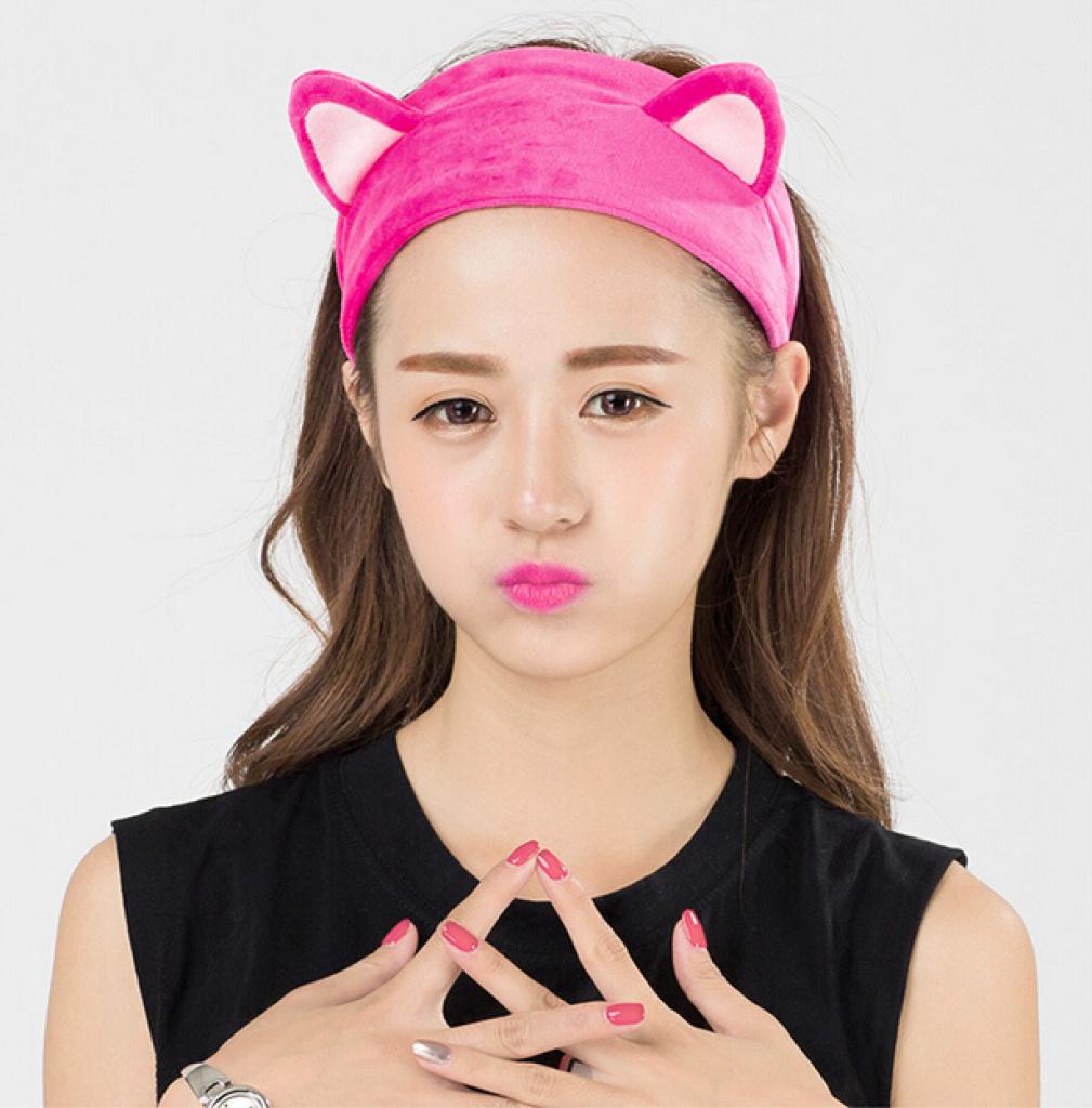 The new Korean cute cat ears headband face makeup Home Furnishing movement 669fea7eb3a