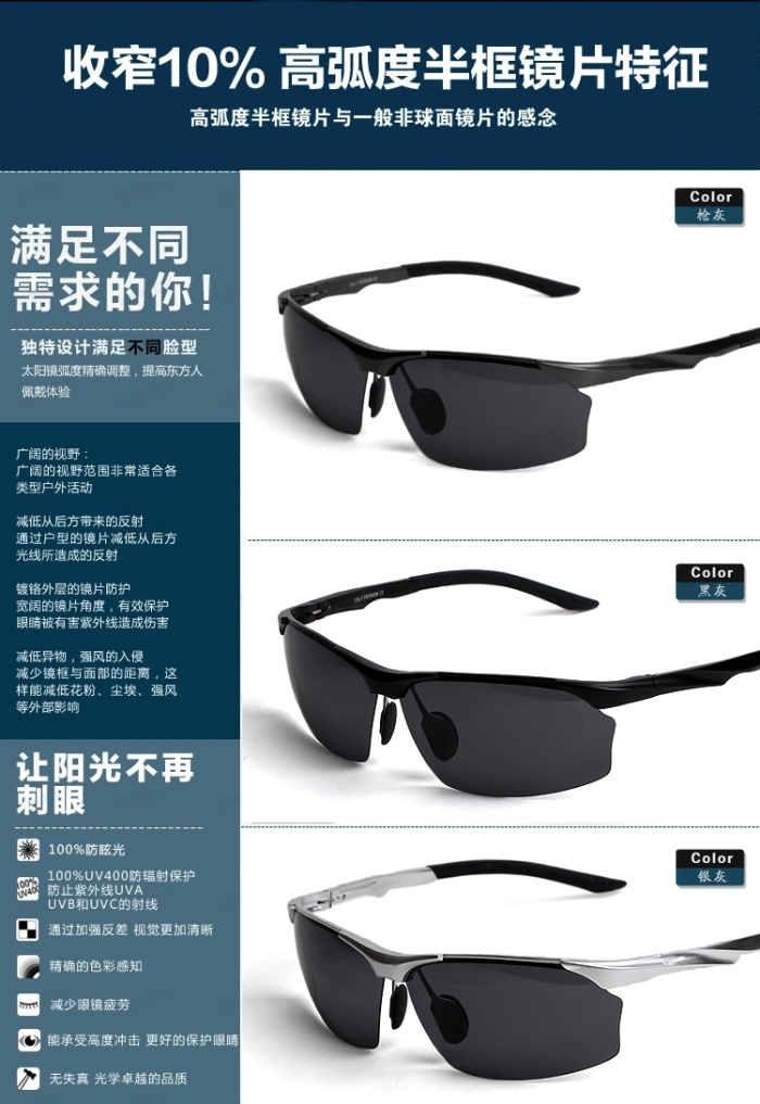 polarized fishing glasses  magnesium polarized