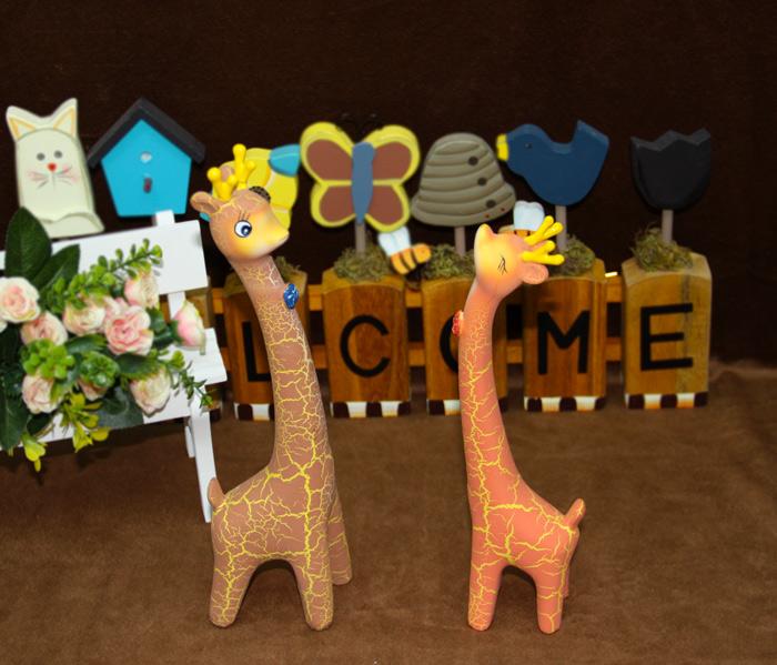创意家居饰品可爱长颈鹿小摆件结婚礼物实用摆设工艺品5171