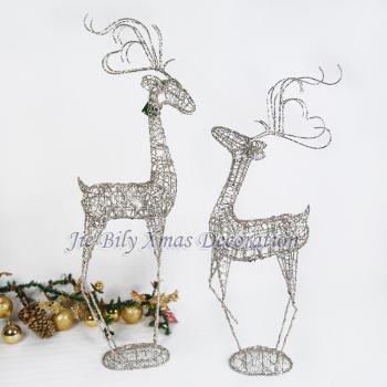圣诞工艺品 婚庆道具 室内装饰品 鹿 圣诞鹿