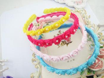 Children Princess wreath hoop lace hair Rose Headband performance accessories wholesale