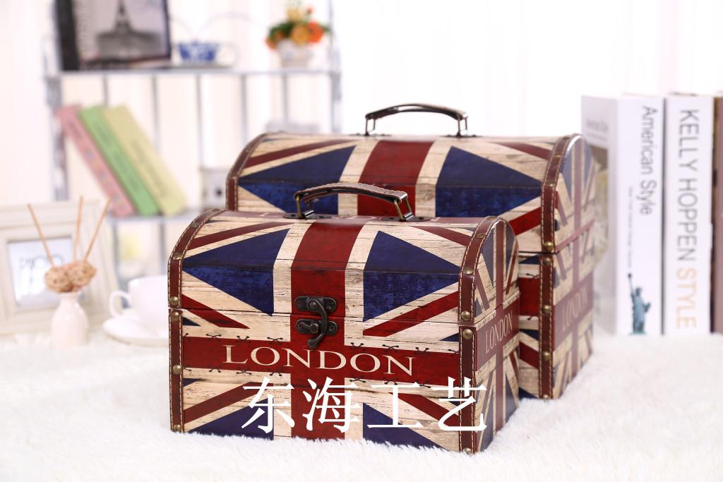复古收纳箱英国国旗储物箱欧式创意家居玄关个性装饰