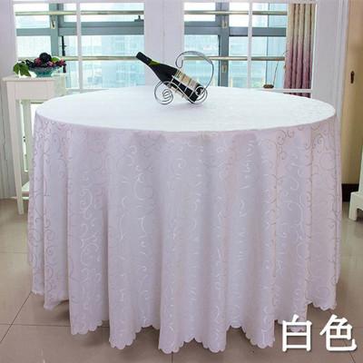 Spot hotel wedding tablecloth restaurant tablecloth hook flower jacquard suit European round table cloth