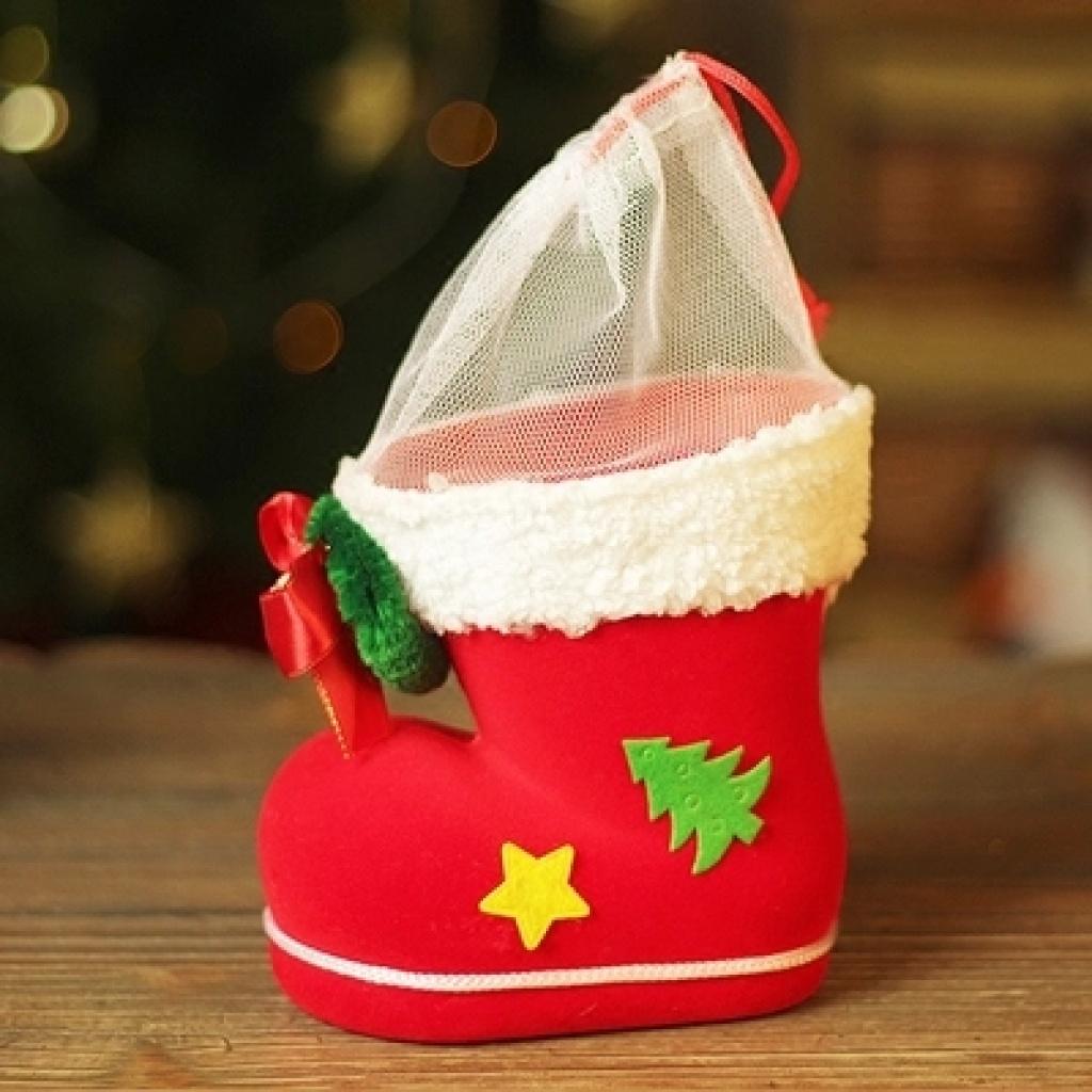 圣诞装饰品 圣诞节装饰礼物 圣诞靴子鞋子礼物盒礼物袋前台摆件