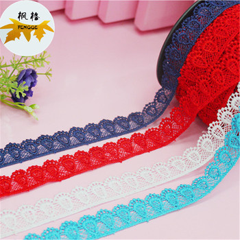 Factory direct sales of high quality polyester this white lace can be dyed according to requirements