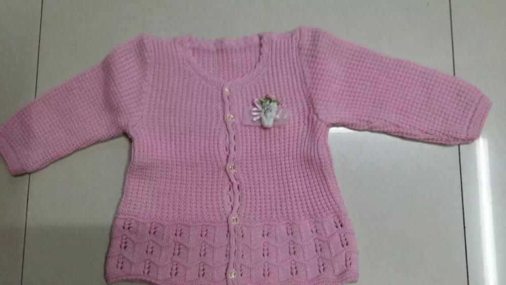 新款 毛线 童装 羊绒线 小孩手工编织毛衣_ 李用青