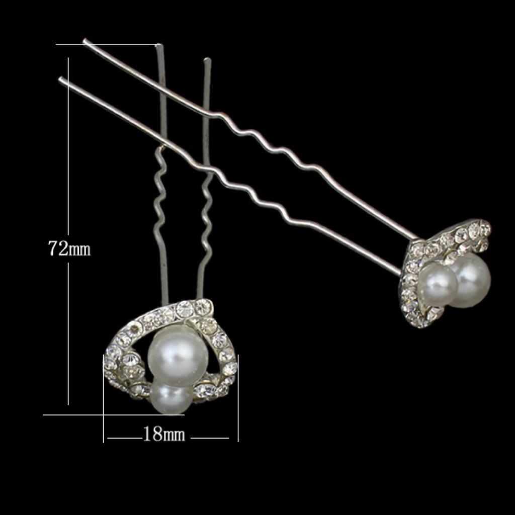 珍珠u型夹发卡发簪子小发叉发饰发夹盘头饰品盘发器