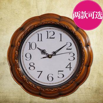 欧式乡村田园复古风格创意客厅挂钟表sb152