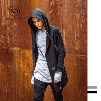 Europe and the new type in the long dark cloak hooded CARDIGAN SWEATER MENS all-match coat