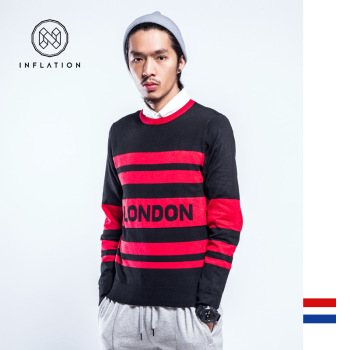 2015 winter sweater college male wind letter jacquard and tide brand