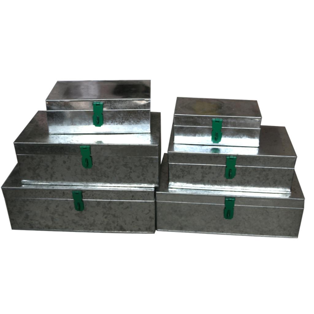 铁皮工具箱大号 手提手工工具箱全铁收纳箱 钱箱 储物箱铁盒子