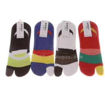 Men's non-slip invisible socks Separate toe ankle socks