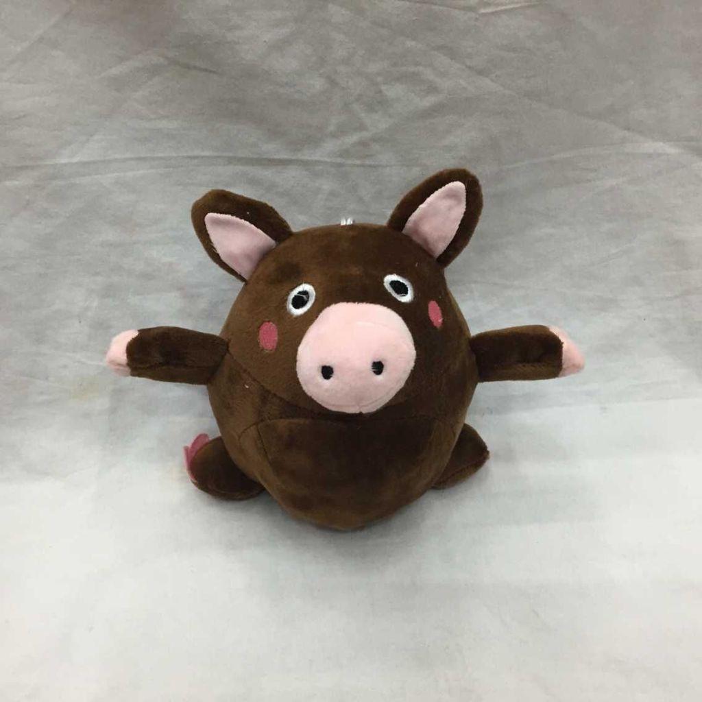 萌萌哒小黑猪可爱的毛绒