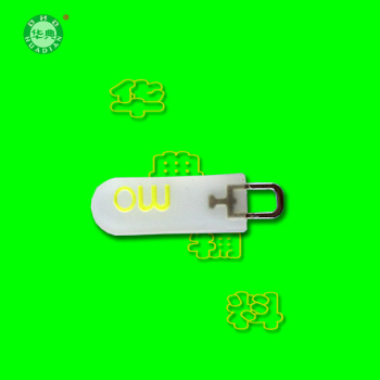 PVC double color transparent double-sided soft glue zipper pull head luggage accessories