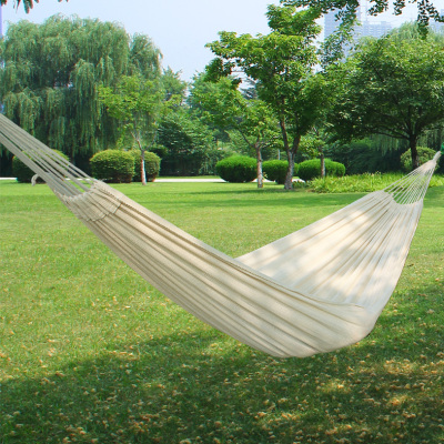 Outdoor leisure hammock hammock hammock double white cotton thickened the wholesale trade of adult children's swing bed