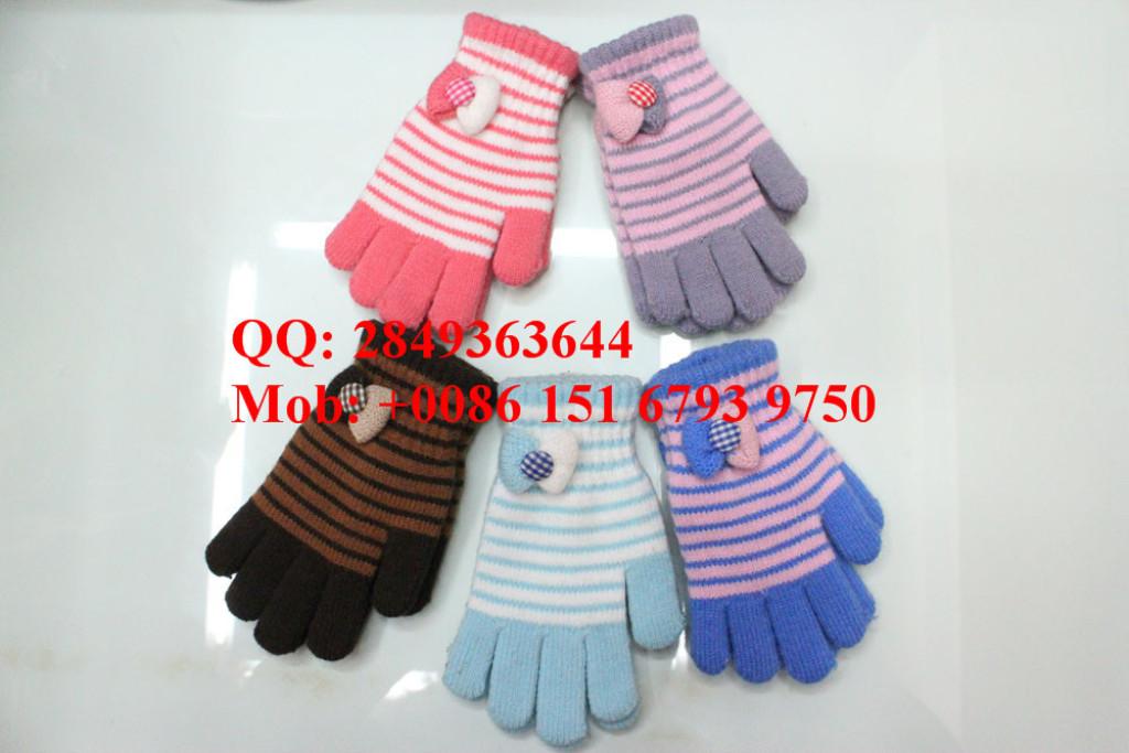 冬季儿童保暖五指手套