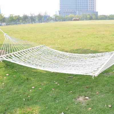 Cotton rope hammock double factory wholesale outdoor lovers mesh breathable swing bed trade explosion