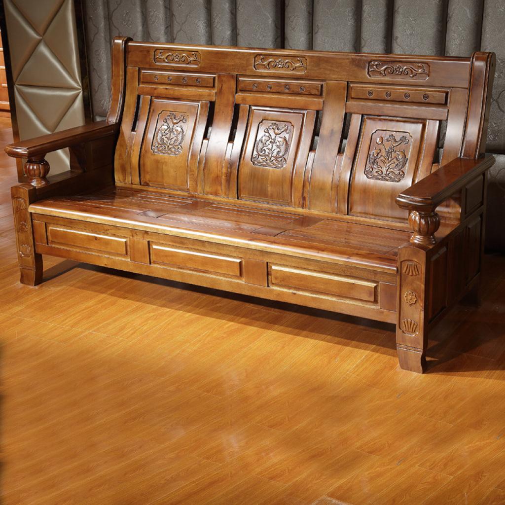 客厅实木家具 高档香樟木家具 简约香樟木组合沙发